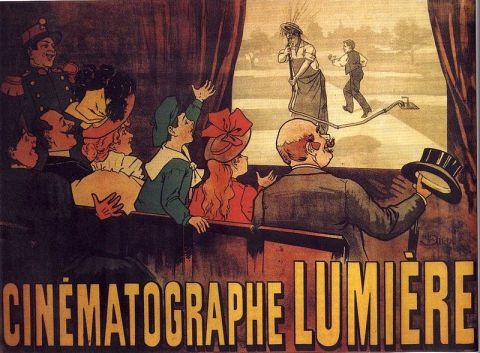 """Cartel publicitario del cinematógrafo Lumière, primer poster de una película, más concretamente, la comedia """"L'Arroseur Arrosé"""", de 1895."""