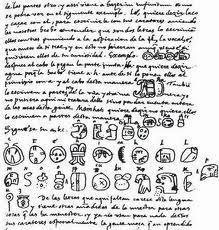 """El llamado informalmente """"alfabeto maya de Landa""""."""