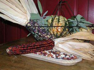 La tríada alimenticia mesoamericana: maíz, calabaza y judías.