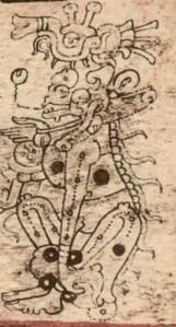 Dios A, en el códice de Dresde.