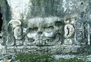 Relieve de templo maya. Palenque, México.