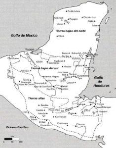 Regiones físicas del mundo maya.