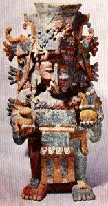Urna incensaria maya en forma de chaac.