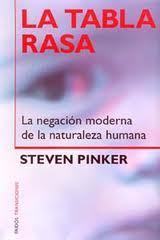 "Portada de ""La tabla rasa"" de Steven Pinker."