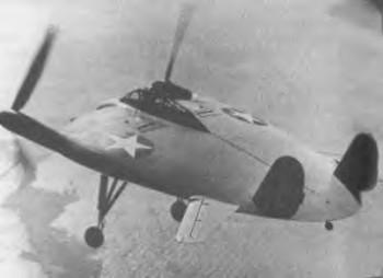 Vought XF5U, fabricado por las Fuerzas Aéreas estadounidenses durante la Segunda Guerra Mundial. Modelo fallido de avión con forma levemente circular.