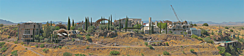 Panorama de Arcosanti, Arizona.