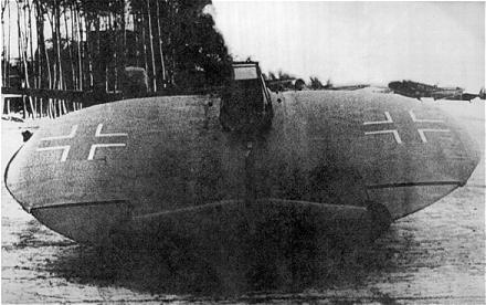 Sack AS-6, fabricado por la Luftwaffe durante la Segunda Guerra Mundial. Modelo fallido de avión de leve forma circular.