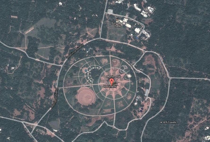 Vista aérea tomada por satélite (Google Maps).