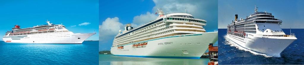Barcos de pasajeros o cruceros convencionales.