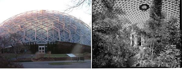 Climatrón. Jardín botánico de Missouri, EEUU. Autor: Buckminster Fuller.