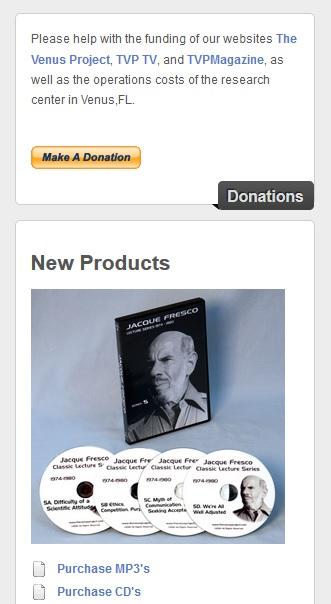 Solicitud de donaciones para el PV en su página web oficial.