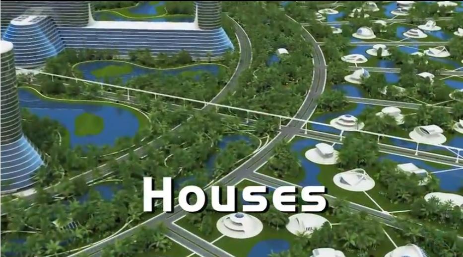 """La nueva serie de Jacque Fresco... """"houses""""."""