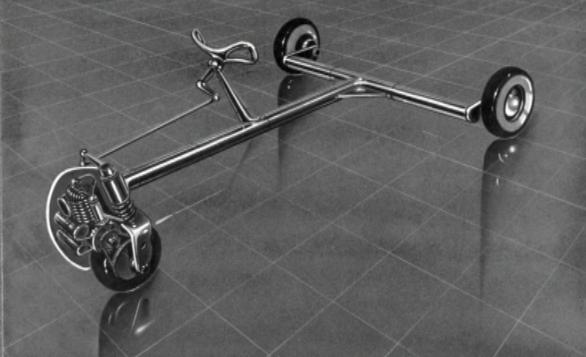 """El """"maravillosamente bien diseñado"""" automóvil de tres ruedas de Jacque Fresco."""