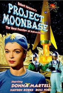 """Póster de la película """"Project Moonbase"""", de 1953. En esa """"majna"""" obra del arte audiovisual participó Jacque Fresco como... maquetista."""
