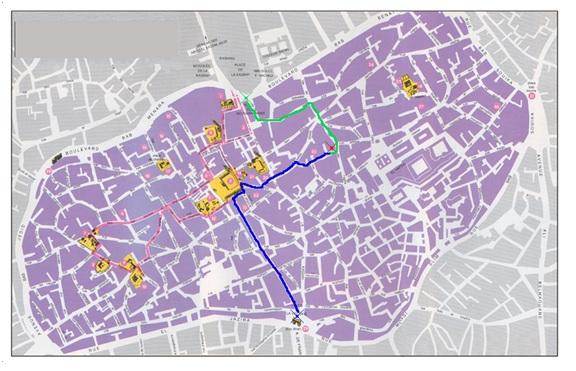 Plano de la Medina de Túnez.