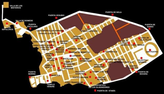 Plano de Pompeya.