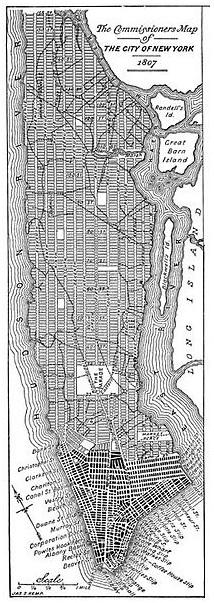 Proyecto urbanístico de Nueva York (1807-1811).