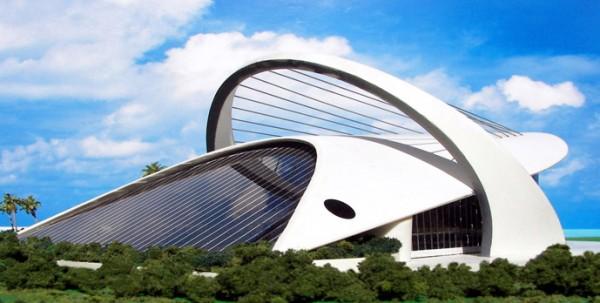 Maqueta de edificio del Proyecto Venus. Figura 5. Santiago Calatrava estaría orgulloso.
