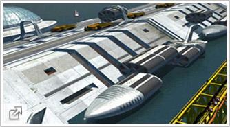 Buque de carga modular en dique del tipo