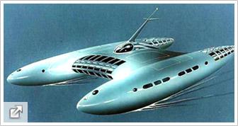 Nave diseñada por Jacque Fresco para su Proyecto Venus. Toma ciencia-ficción barata.