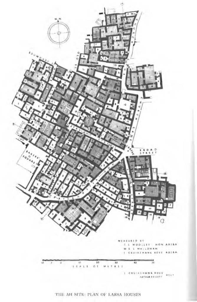 Plano de la ciudad sumeria de Larsa.