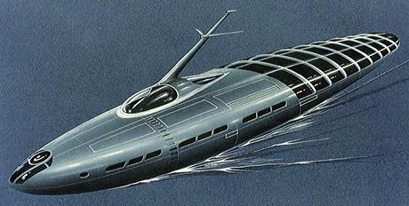 Nave diseñada por Jacque Fresco para su Proyecto Venus. No soy ingeniero náutico y ya me estoy descojonando vivo... con eso lo digo todo.