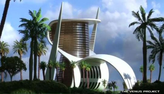 Edificio (más bien adefesio) del Proyecto Venus. Maqueta. Figura 4.