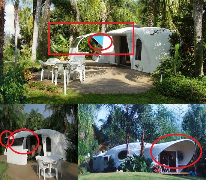 Voladizos y salientes de auténtico mal diseño en los edificios del PV.
