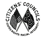 "Logo del ""White Citizens' Council""."