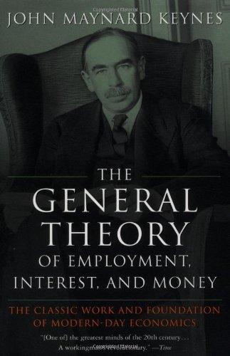 John Maynard Keynes en la portada de su obra más importante,
