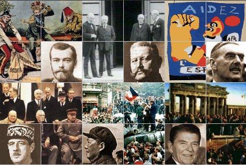 Collage con algunas de las imágenes de los sucesos y protagonistas más importantes de la historia mundial del siglo XX.