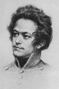 Karl Marx con dieciocho años de edad y con el uniforme de estudiante de la universidad de Berlín.