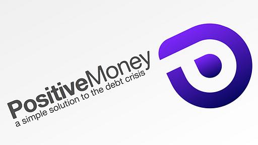 Logo del movimiento social británico Positive Money. Surgido con la intención de