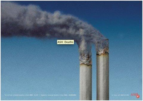 Anuncio de ASH contra el tabaco: ejemplo de 'shock advertising.'
