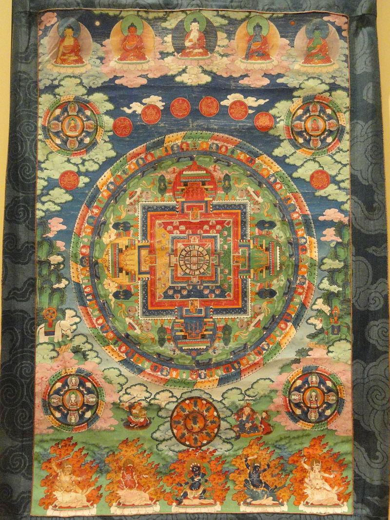Dhyani_Buddha_mandala,_Tibet,_19th_century_-_Royal_Ontario_Museum_-_DSC09664