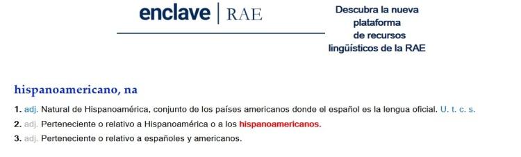Hispanoamericano RAE