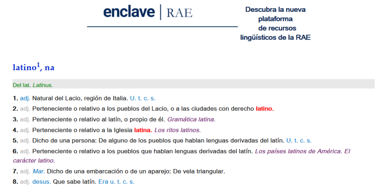 RAE latino