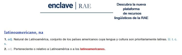 RAE latinoamericano