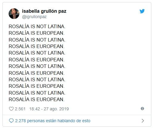 Rosalía twitter